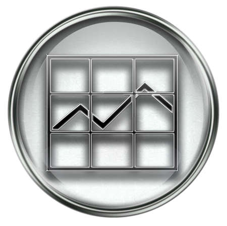 graph icon grey, isolated on white background. Stock Photo - 3771122