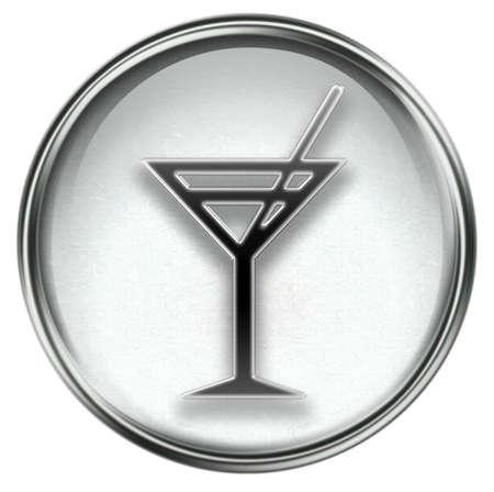 wine-glass icon grey, isolated on white background. photo