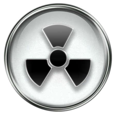 Radioactive icon grey, isolated on white background. Stock Photo - 3771073