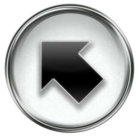 Arrow icon grey, isolated on white background. photo