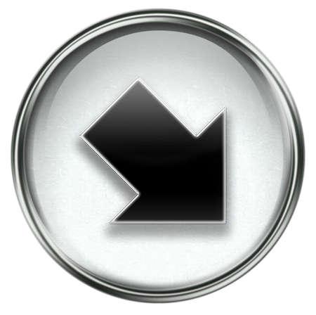 upward movements: Arrow icon grey, isolated on white background.