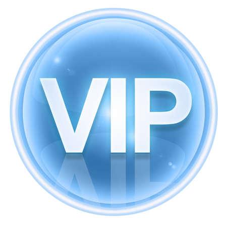 VIP icon ice, isolated on white background. Stock Photo - 4525810