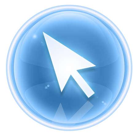 curcor icon ice, isolated on white background Stock Photo - 4525826