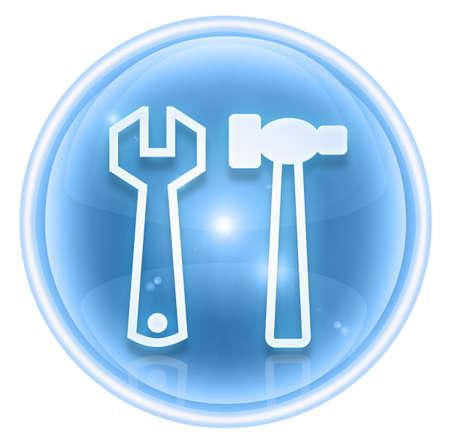 Tools icon ice, isolated on white background photo