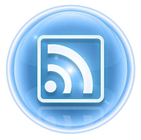 wep: WI-FI icon ice, isolated on white background Stock Photo