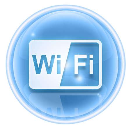 WI-FI icon ice, isolated on white background Stock Photo - 4582770