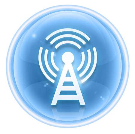 WI-FI tower icon ice, isolated on white background Stock Photo - 4582771