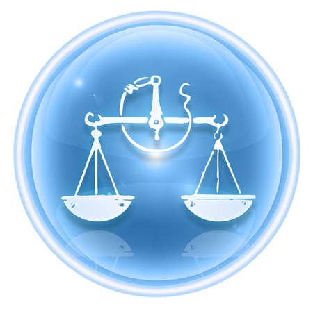 Libra zodiac icon ice, isolated on white background. Stock Photo - 4609022