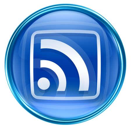 WI-FI icon blue, isolated on white background Stock Photo - 5075872