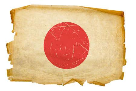 Japan Flag old, isolated on white background. photo