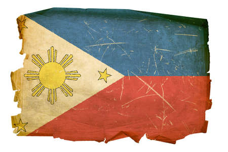 Philippines Flag old, isolated on white background. Stock Photo - 5416741