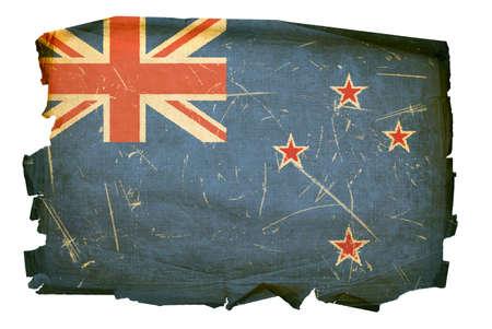 New Zealand Flag old, isolated on white background. photo