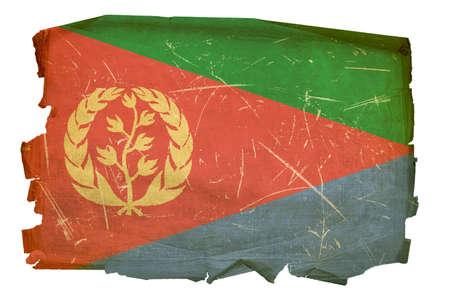 Eritrea Flag old, isolated on white background. Stock Photo - 5458590
