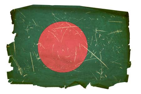 bengali: Bangladesh Flag old, isolated on white background.