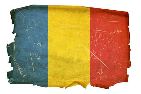 Romania Flag old, isolated on white background. Stock Photo - 5458487