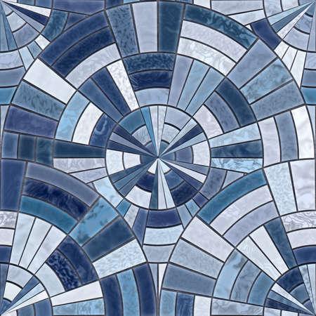 ceramic tiles: Radial mosaic tiles.  Seamless Textures