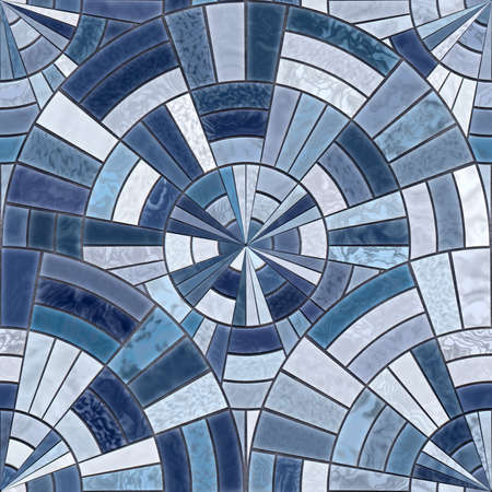 Radial mosaic tiles.  Seamless Textures Reklamní fotografie - 8832045