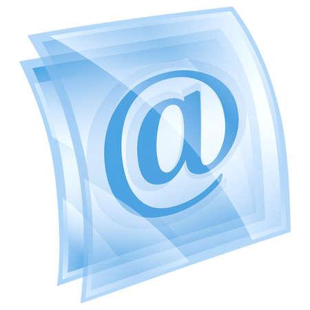email symbol blue, isolated on white background. photo