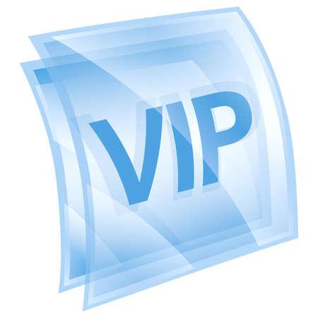 VIP icon blue, isolated on white background. Stock Photo - 9772787