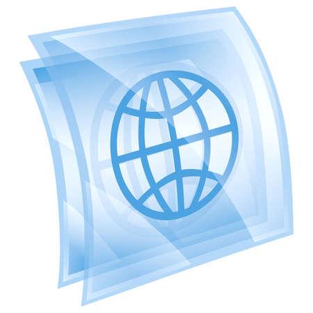 World icon blue, isolated on white background. photo