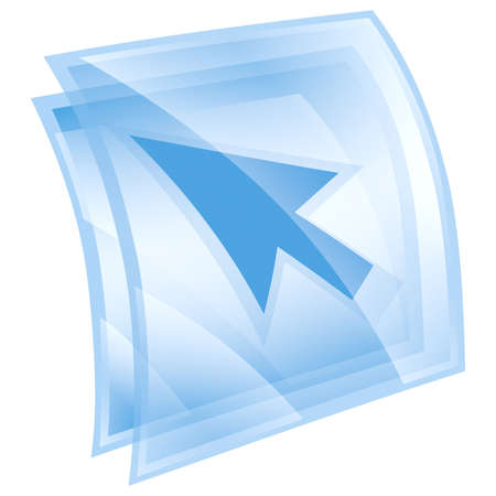 cursor icon blue, isolated on white background Stock Photo - 9772778