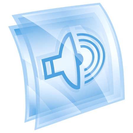 speaker icon blue, isolated on white background. photo