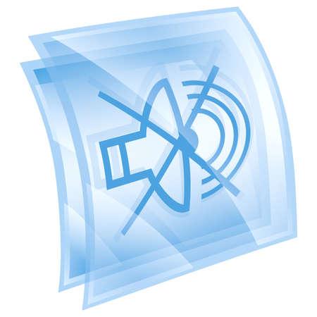 speaker off icon blue, isolated on white background. photo