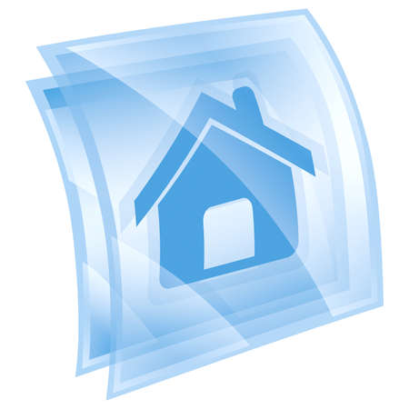 home icon blue, isolated on white background Stock Photo - 9772789