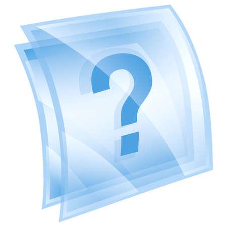 Help icon blue, isolated on white background photo