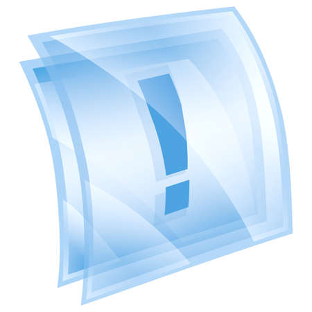 Exclamation symbol icon blue, isolated on white background Stock Photo - 9772768