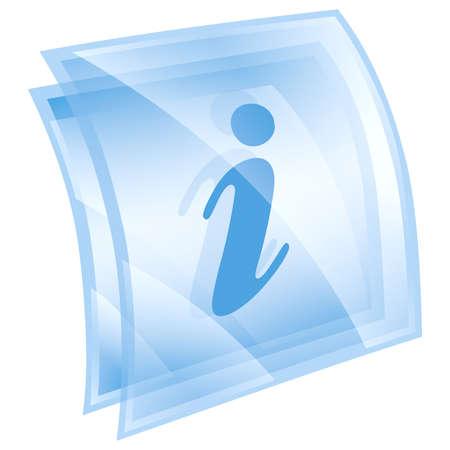 Informations-Icon blau, isoliert auf wei?em Hintergrund