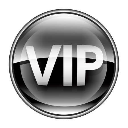VIP icon black, isolated on white background. Stock Photo - 10020746