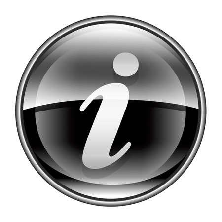 information medium: information icon black, isolated on white background Stock Photo