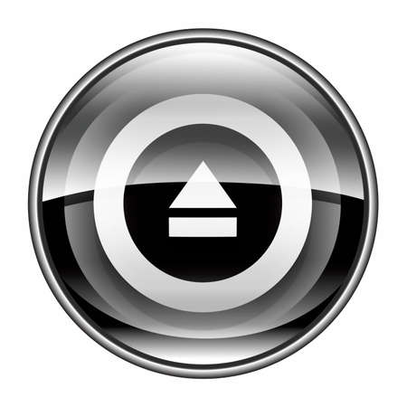eject: Eject icon black, isolated on white background.