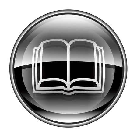 book icon black, isolated on white background. photo