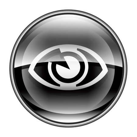 clearer: fleye icon black, isolated on white background. Stock Photo