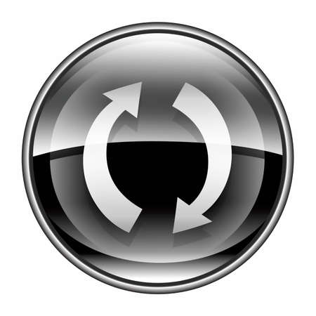 refresh button: refresh icon black, isolated on white background.