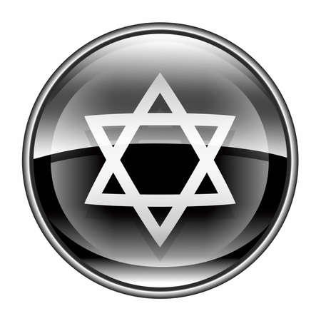 David star icon black, isolated on white background. Stock Photo - 10256781