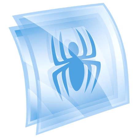 anti virus: Virus icon blue, isolated on white background