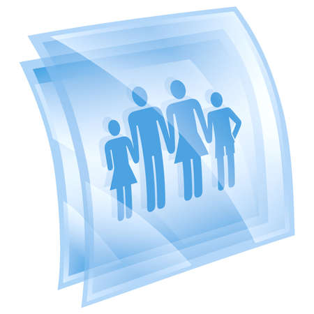 watercloset: people icon blue, isolated on white background.