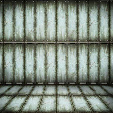 treadplate: Old metallic interior, texture of metal.  Stock Photo