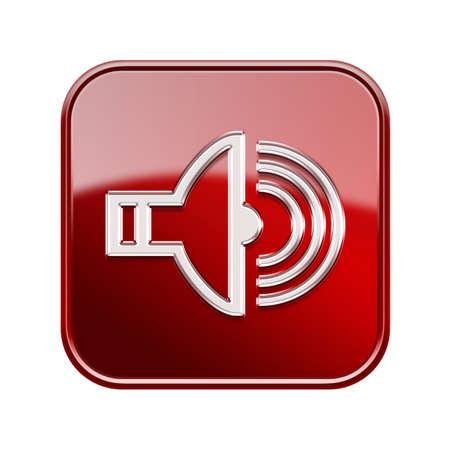 shinny: Speake icon red, isolated on white background