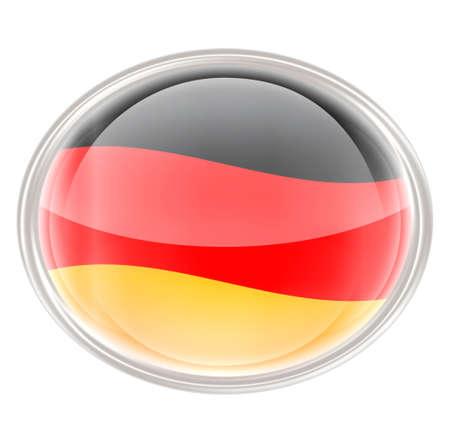 elipse: Alemania Bandera icono, aislado en fondo blanco. Foto de archivo