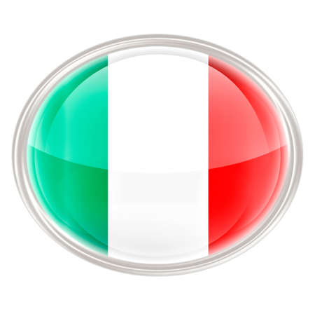 Italy Flag Icon, isolated on white background photo