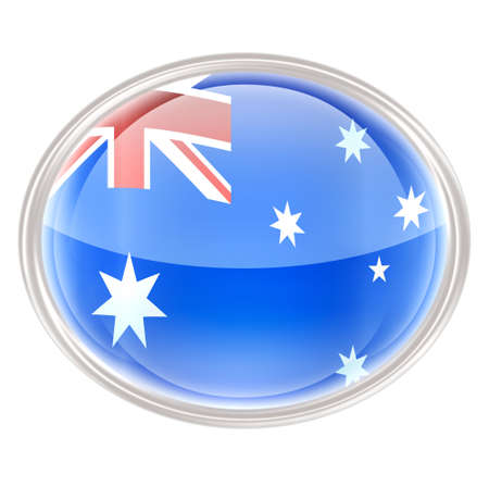 Australia Flag Icon, isolated on white background. photo