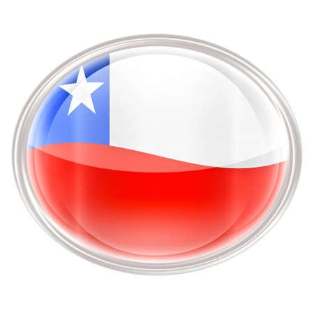 chile flag: Chile Flag Icon, isolated on white background.