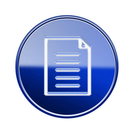 sender: Document icon glossy blue, isolated on white background
