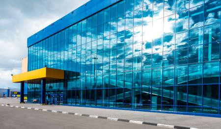 Skyscraper windows with reflection of the sky. Reklamní fotografie