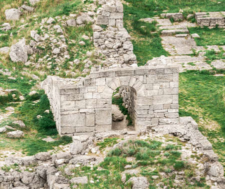 Archaeological excavations of an ancient structure. Crimea, Mith Reklamní fotografie