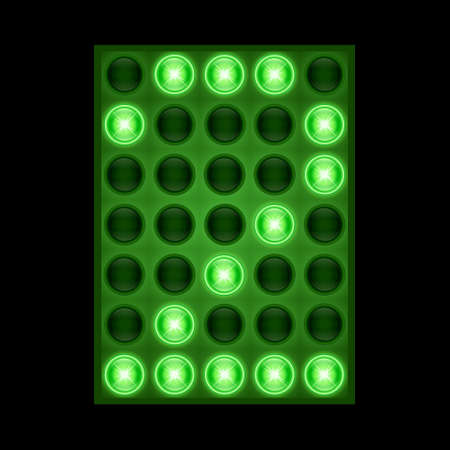 Number two 2 on green LED display.